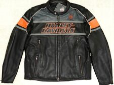 ~!L@@K! Men's HARLEY DAVIDSON Rumble SCREAMING Eagle Leather Jacket.Size Small,S