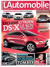L'AUTOMOBILE MAGAZINE . N° 791 . avril 2012 . DS-X / 208 HDI 115 / NOUVELLE A3 /