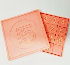 Vintage 15 Number Slide Game Brain Teaser Puzzle Retro USSR 1980s