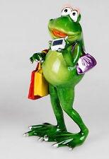 Frosch Dame Tasche Kröte Lurch Deko Tier Figur Skulptur Froschkönig Laubfrosch