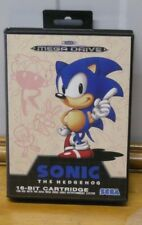 Sega game Sonic the Hedgehog 1 with cart and manual in good condition