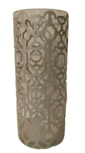 """Glass Vase Cylinder 6"""" X 14"""" Decorative Candle Holder Table Shelf Glass Clear"""