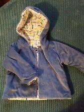 3-6 months boy blue winter jacket hoodie m&s soft corduroy