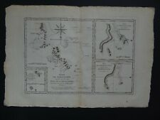 1788 Bonne Desmarest Atlas map  KERGUELEN ISLANDS - Desolation Islands Antarctic
