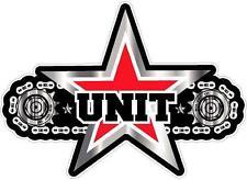 UNIT - CHAIN & STAR - 200mm x 150mm - DECAL