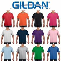 Gildan Softstyle Cotton Plain Blank CHILDRENS BOYS T Shirts Wholesale Cheap Bulk