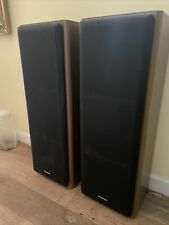 "Vintage Panasonic Tower speakers Rare Heavy l 36"" model sb-zr920 3 Way"