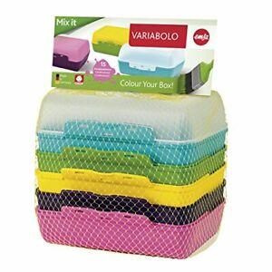 emsa Brotdose VARIABOLO Clipbox Set 6-teilig farbig Butterbrotdose Essensbox