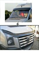 Sun Visor and Bug Guard Solid Black Acrylic FOR VW Crafter 2006-2012