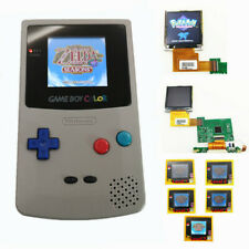 Gray Refurbished Game Boy Color GBC Console With Highlight Back Light LCD