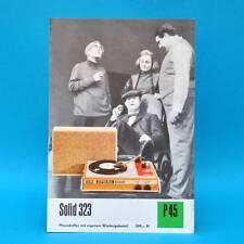 Solid 323 Plattenspieler DDR 1972 | Prospekt Werbung Werbeblatt DEWAG P45 X