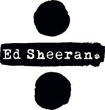 "Ed Sheeran Divide Logo Car Wall Decal Sticker 6""X5.7"" Black"