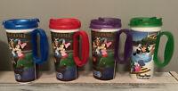 Lot of 4 Walt Disney Parks Rapid Fill Hot Cold Refillable Souvenir Mug Cups