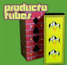 "10"" FOLDING PRODUCTION TUBES Silk Black Art Stage Magic Trick Square Circle Prop"