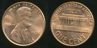 United States, 1974 One Cent, Lincoln Memorial - Uncirculated
