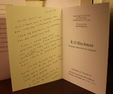 R.O. Blechman Franklin the Fly 2007 SIGNED Letter Ansie Baird Poet 1st Edition