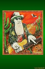 Billy F. Gibbons Texas Blues  Print by Cadillac Johnson Signed and Numbered
