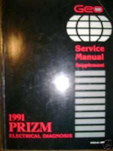 1991 Chevrolet Geo Prizm Electrical Diag Service Manual