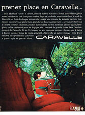 PUBLICITE ADVERTISING  1962   RENAULT   caravelle