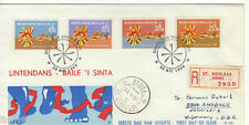 NETHERLANDS ANTILLES REG AIRMAIL FDC 1968 CULTURAL & SOCIAL RELIEF FUND