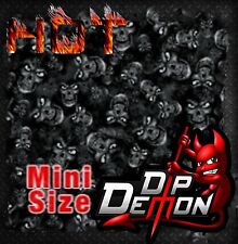 MINI SIZE DEAD HEADS SKULLS HYDROGRAPHIC WATER TRANSFER HYDRO DIPPING DIP DEMON