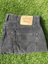 Men's Faded Black Levi 401 Cords Waist 34 Length 36 Men's Levi Jeans