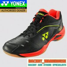 NEW YONEX POWER CUSHION SHB65ZM BADMINTON SQUASH INDOOR SHOES BLACK/BRIGHT RED