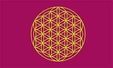 Fahne Flagge Blume des Lebens lila 90 x 150 cm