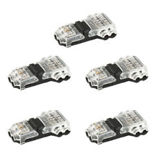 5x 2pin T-Shape Wire to Wire Adapter Connector For 3528 5050 LED Strip Light