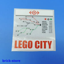 LEGO® (30) Sticker (60051) Aufkleber / Eisenbahn Lego City Fahrplan / 1 Stück