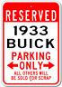 1933 33 BUICK  Parking Sign