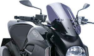 Puig Touring Windscreen Dark Smoke #5655F Ducati Diavel 561-1064D New Generation
