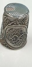 More details for antique sterling silver wire work sewing thimble