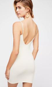 NEW Free People Intimately Seamless Low Back Slip Dress Ivory Sz XS/S-M/L 39.73