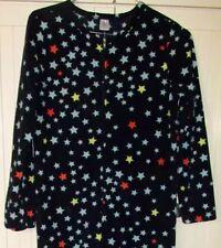 Starry Night Sky Footed Pajamas Fleece Adult Stars NEW S / M LAST ONE SOFT WARM