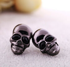 New Unisex Designer Inspired Delicate Punk Skull Cool Stud Earrings