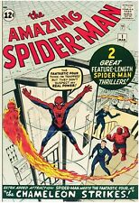 Amazing Spider-Man #1 Facsimile Reprint Cover Only w/Ads Key 1st In Title