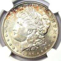 1886-S Morgan Silver Dollar $1 - NGC Certified - AU / UNC MS Details - Rare Date
