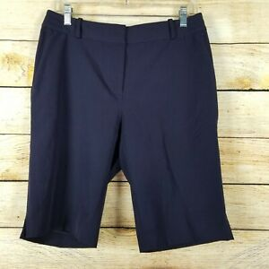 Fairway & Greene Womens Shorts Size 8 Navy Blue Lightweight Bermuda Walking
