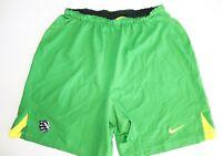 Nike Men's Green Gold Dri Fit Shorts Size M