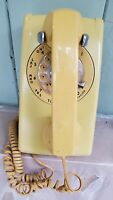 Vintage 1959 Yellow Western Electric Bell System Rotary Wall Telephone Model 554
