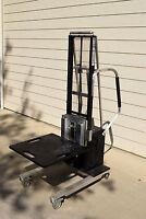 Alum-a-lift 120 lb cap 12volt Forklift, lab, industrial, clean room Die Truck