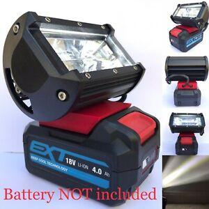 Erbauer EXT Battery Compatible 18v Work Light Torch Flood High Brightness LED