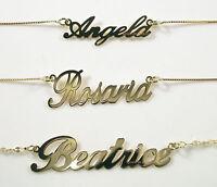 Collar gargantilla con nombre de oro amarillo blanco 18 quilates TODOS