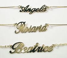 Collana girocollo con nome in oro Giallo oro Bianco 18 carati TUTTI I NOMI