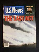"Vintage 1991 U.S. News & World Report Magazine ""The Last Act"" - Gulf War"