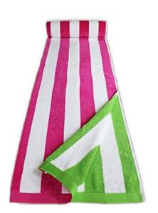 PINK CANDY STRIPES JUMBO EXTRA LARGE BEACH 170x90cm VELOUR EGYPTIAN COTTON