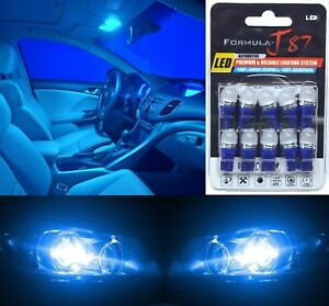 LED 5050 Light Blue 10000K 194 Ten Bulbs License Plate Tag Upgrade Fit SMD JDM