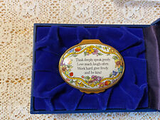 New listing Halcyon Days Enamel Box - Preowned, But Not Used. Complete With Box.