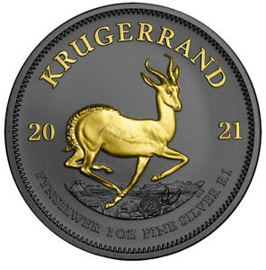 Krugerrand Silver 1oz Ruthenium and Gold